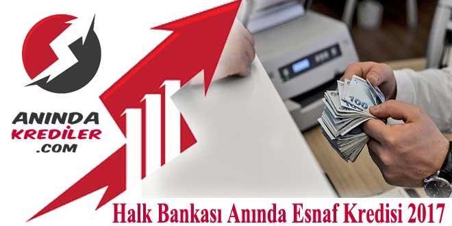 Halk Bankası Anında Esnaf Kredisi