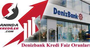 Denizbank Kredi Faiz Oranları 2018